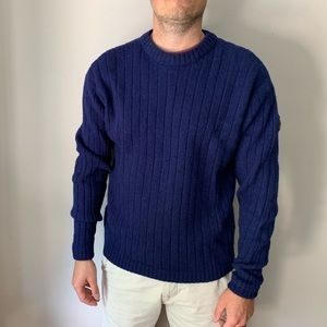 The North Face 100% Wool Sweater in Navy